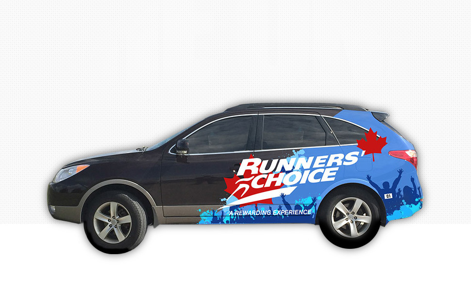 Runners Choice car wrap